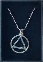 Sterling Silver AA Symbol Large Pendant